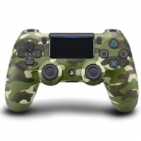 PS4 DualShock 4 Wireless Cont. V2 Green Camouflage