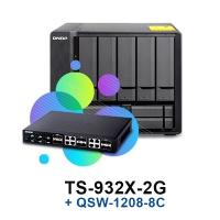 QNAP TS-932X-2G + QSW-1208-8C