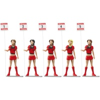 21123 Figurki - Dziewczyna z tabliczką (5szt)