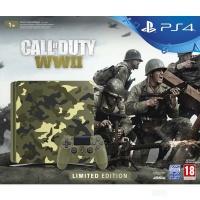 PS4 Konzole 1TB Slim Green Camo + COD WWII + TY