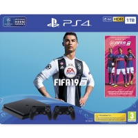 PS4 Konzole 1TB Slim + FIFA 19 + DS4