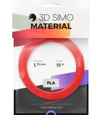 3DSimo Filament PLA II - czerwony, fioletowy, zielony 15m