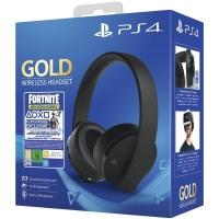 PS4 Gold Wireless Headset Black + Fortnite
